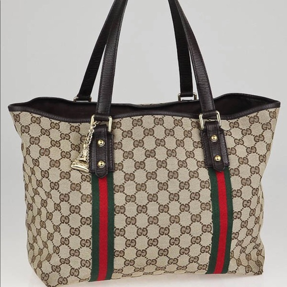 fdb8f80ab4ae Gucci Bags | Authentic Signature Gg Canvas Brown Tote Bag | Poshmark